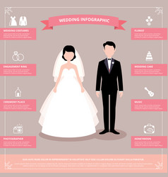 Stock of wedding infographic vector