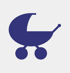 stroller icon vector image