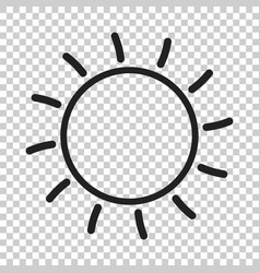 sun icon sun with ray symbol vector image