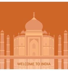 Taj mahal temple landmark in agra india indian vector