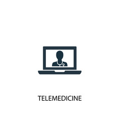Telemedicine icon simple element vector