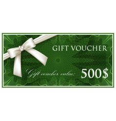 Template design of green gift voucher or vector