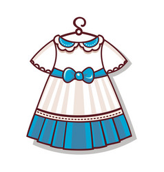 The cartoon style dress color for the child vector
