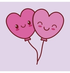 valentines day related kawaii style icon image vector image
