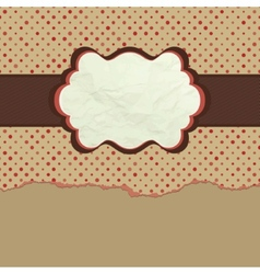 Vintage polka dot design EPS 8 vector image