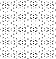Vintage simple seamless black and white flower vector image