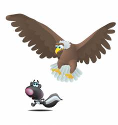 eagle and skunk vector image