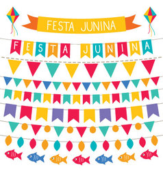 Festa Junina decoration set vector image