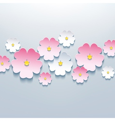 Floral background card with 3d flower vector image vector image