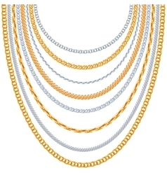 Gold chains background vector image vector image