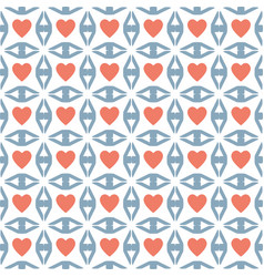 heart sign valentine day design pattern vector image