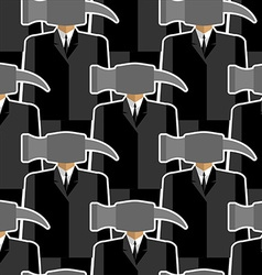 Office worker hammer seamless pattern People-tools vector image vector image