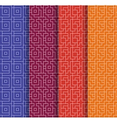 Set of Repeating geometric background seamless vector image vector image