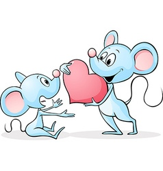 Two mouses in love - vector