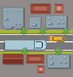 urban top view cartoon vector image