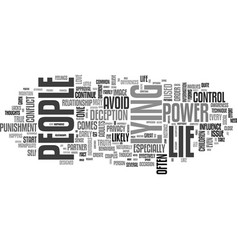 why people lie text word cloud concept vector image