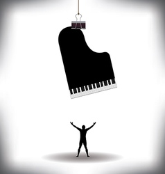 A man worships music vector image vector image