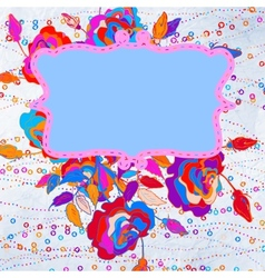 Floral abstract background EPS 8 vector image
