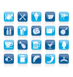 Food drink and restaurant icons vector image