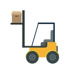 Forklift vehicle delivery transport vector
