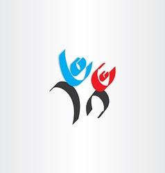 happy people men calligraphy icon vector image