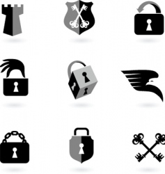 locks security vector image