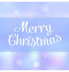 Merry Christmas typographic greeting card vector image vector image