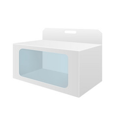 white cardboard box with transparent window vector image