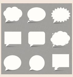 White Speech Bubbles vector image vector image