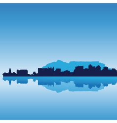 cape town skyline vector image