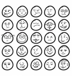 funny hand drawn unique smiles vector image vector image