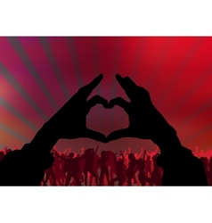 I Love Party vector image vector image