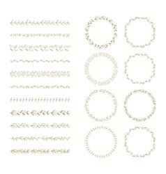 brush and laurel wreath set vector image
