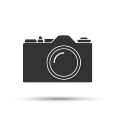 common slr camera icon sign isolated on white vector image vector image