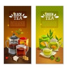 Tea Banners Set vector image