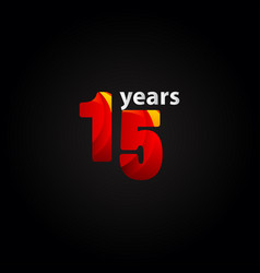 15 years anniversary red light template design vector