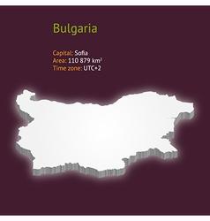 3d map of bulgaria vector image