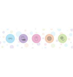 5 reflection icons vector
