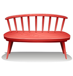 A red wooden furniture vector