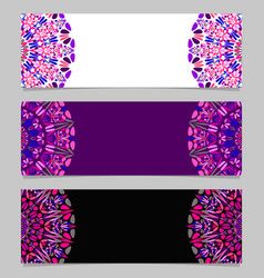 Abstract flower mandala banner set - colorful vector