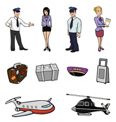 airport collection vector image vector image