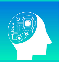 artificial intelligence futuristic technology vector image