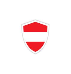 austria flag emblem template design vector image