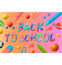 back to school template social media community vector image