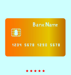 Bank cit card it is icon vector