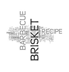 Barbecue brisket recipe text word cloud concept vector