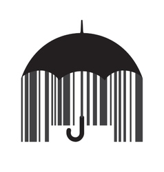 Barcode umbrella vector