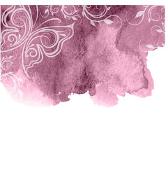 beautiful pink watercolor background vector image