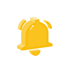 bell isometric flat icon alarm symbol notification vector image