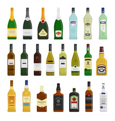 Big set of different bottles vector